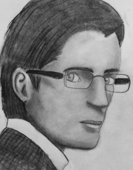 Man drawing by LizWright134