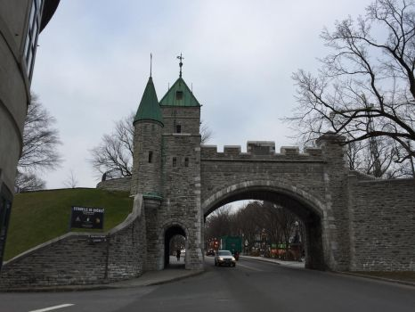 The Saint Louis gate to Old Quebec city by mtnboy64