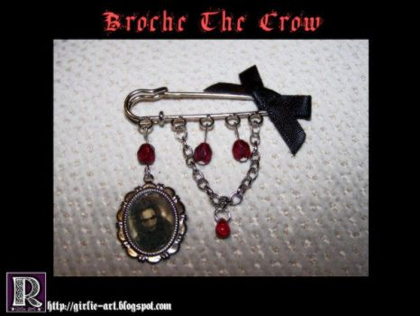 The Crow brooch by Girlie-Art