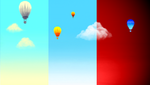 Muro: Four Balloons and Three Sky by vt2000