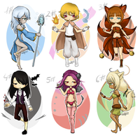 Adoptables: Mystery human/kemonomimi Eggs CLOSED by ShineDUS