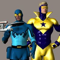 The Blue, The Gold, The Trek by blubeetle3