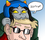 Dave and Nepeta by 2ndLtHavoc