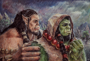 Durotan and Thrall by Fuytski