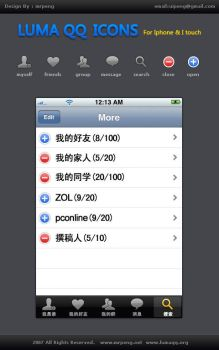 Icons For Iphone IM software by chinapeng