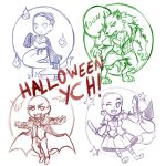 Halloween chibi YCH - OPEN! by sofia-1989