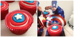 Captain America Cupcake by bruhway