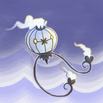 Chandelure + Drifloon by epicawesomepieisepic