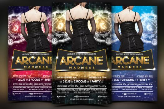 Arcane Party Event Flyer by hawkmax