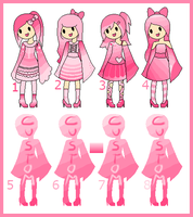 Pink Chibi Adoptables + Customs [CLOSED] by Akira-Melody
