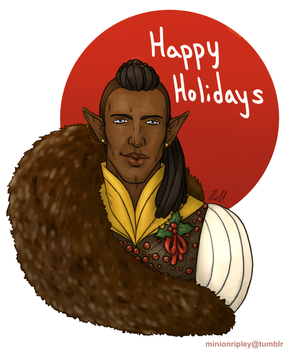 Happy Holidays from Concept Art Solas by ripleyem