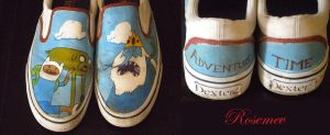 Adventure Time Shoes by Rosemev