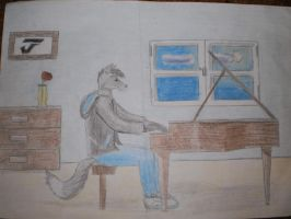 playing the piano by josamarnfshp