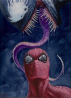 spiderman and venom by LucaStrati