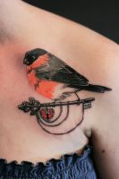 Bullfinch. by Akumashugitattoo