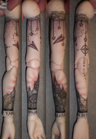 Tattoo Sleeve: completed by circe-nausicca