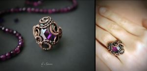 Ring Violet heaven by AstannaJewelry