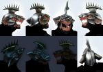 Stormvermin mask with luminous helmet, skaven. by DenisPolyakov