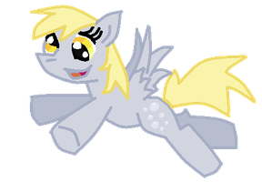 Ms Paint Derpy Hooves by Quacksquared