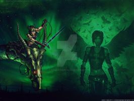 WALLPAPER: Nihal's wings by GothicBrokenBabe