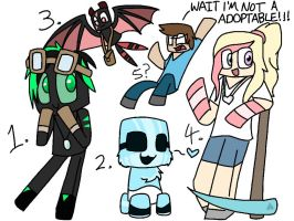 Minecraft adoptables (closed) by Gameaddict1234