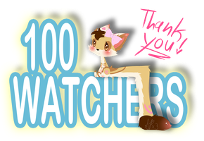 100 Watchers! by Shadow-PupX3