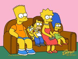 Los Simpson by chachin