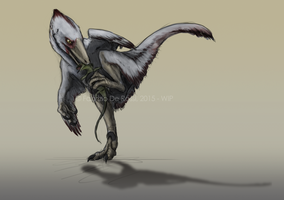 Speculative behavior - Velociraptor sp. by FabrizioDeRossi