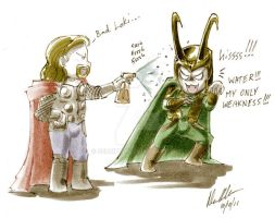 Loki vs Water 1 by Serrifth