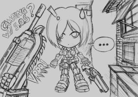 Gears of War 3 Anya by HuangZhenyangHZ