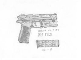 M8pds 'Kenaz' semi-automatic handgun by DICEMAN987