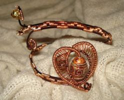 Brown And Copper Heart Armwrap by Toowired