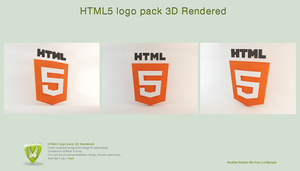 3D HTML5 Logo by LeMarquis