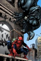 Spider-man Venom color Marvel by gabrielguzman