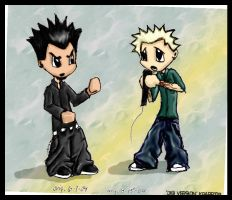mike and chester- chibi? anime by stylistic-division