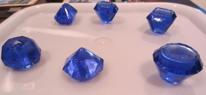 Resin Blue Gems by Soynuts