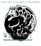 Tribal Wolf Celtic Cat Tattoo by WildSpiritWolf