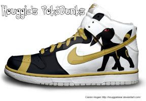 Umbreon Nike Dunks by Houggiebear