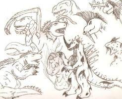 Kaiju Galore by The-Great-MM