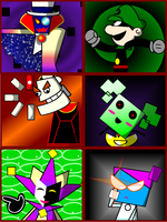 Super Paper Mario Villians by ctjamjelly
