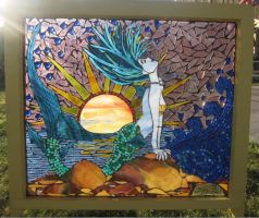 Marina the Mermaid Mosaic by reflectionsshattered
