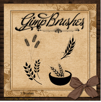 GIMP Brushes | Wheat Brushes by TheAngeldove