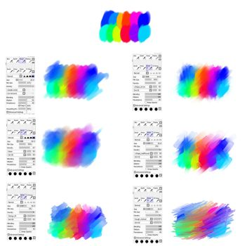 Waterbrush settings for Paint tool SAI by ryky