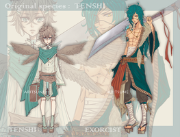 [CLOSED]  Tenshi original species + Exorcist by Aritsune-chan