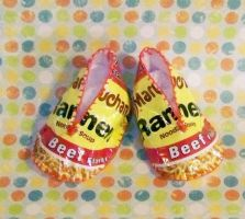 Ramen Noodle Baby Booties by RyuuseiHime