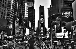 Times Square - Black/White by designing-Life