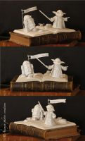 Book sculpture Starwars by AnemyaPhotoCreations