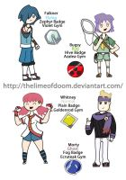 PokedexTime! Gold/Silver Gym leaders 1 by thelimeofdoom