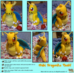 Chibi Dragonite Inspired Plush by KeybladeFoxsquirrel