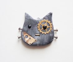 Steampunk Cat - Free Fella by FrozenNote